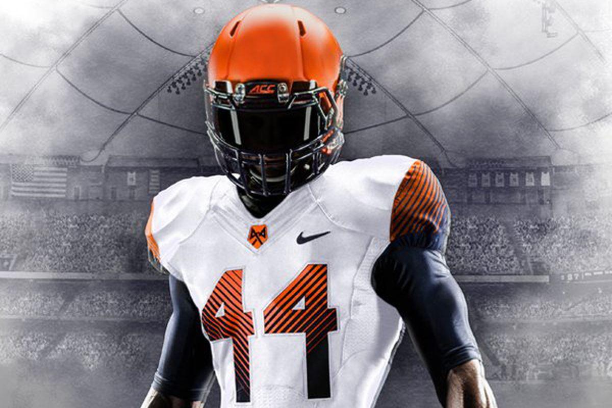 Football SU Uniforms: Going Syracuse Orange-White-Orange