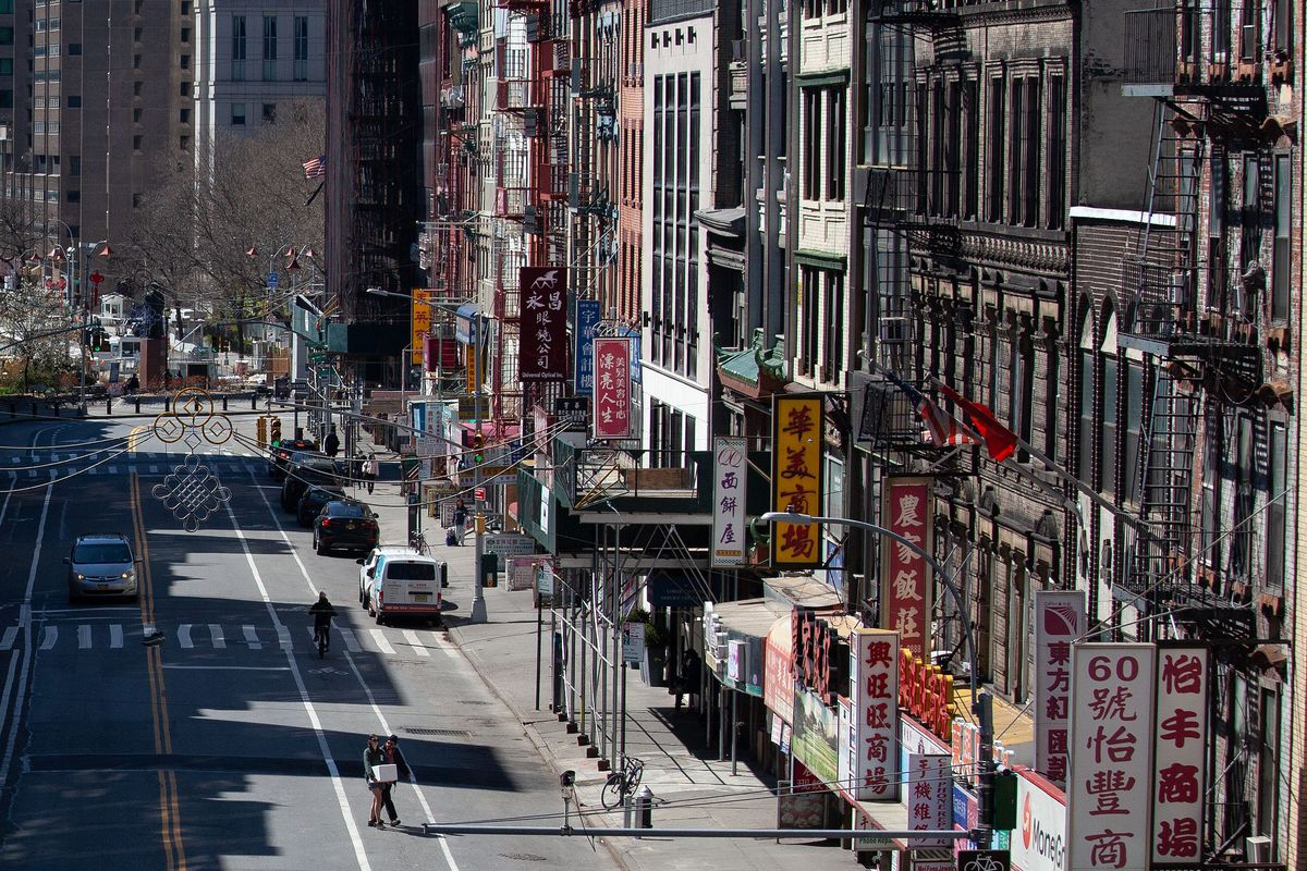 A Chinatown street was unusually empty during the coronavirus outbreak.