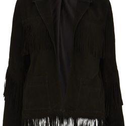 Suede Fringe Jacket, $490