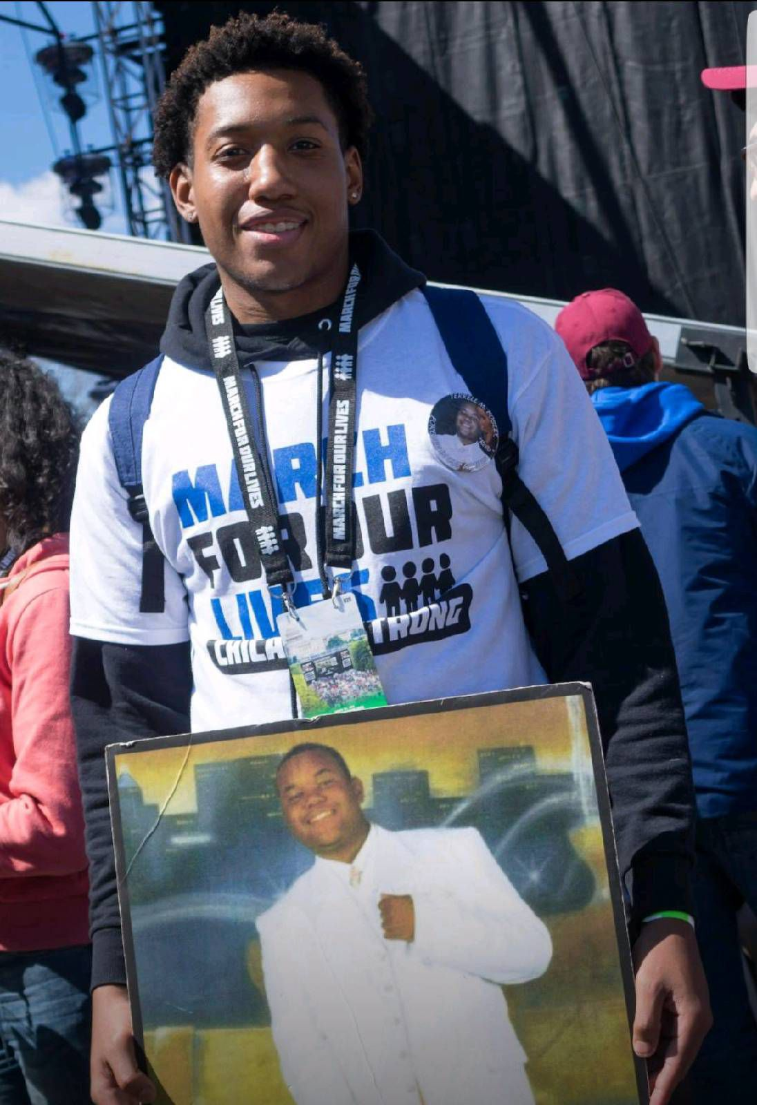 Trevon Bosley at March for Our Lives in Washington, D.C. earlier this year