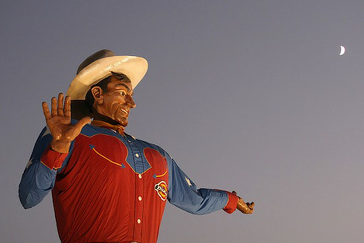 Big Tex, State Fair of Texas icon and patron saint of all things fried.