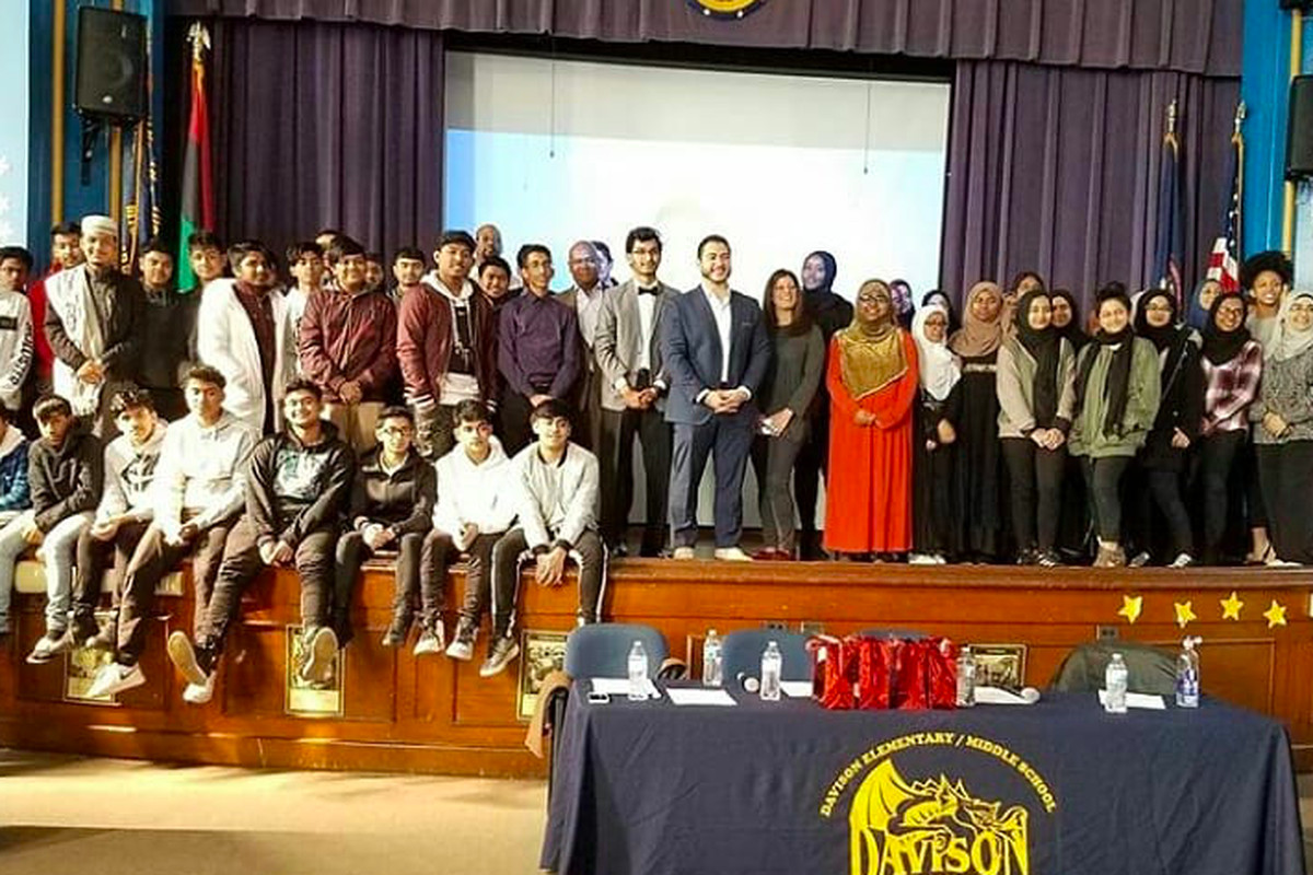 Muslim students organized a community event in 2019 to spread awareness on the Eid holiday's significance.