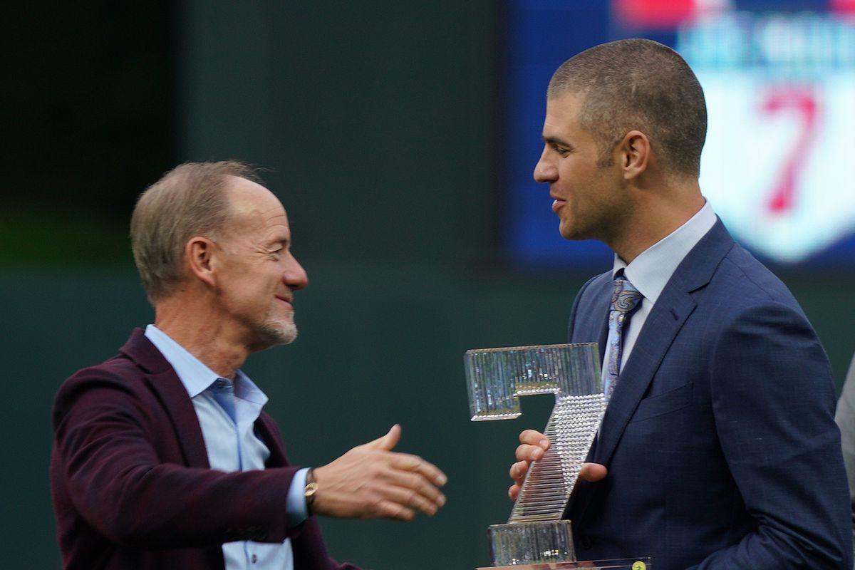 Former Minnesota Twin star Joe Mauer's number retired at Target Field