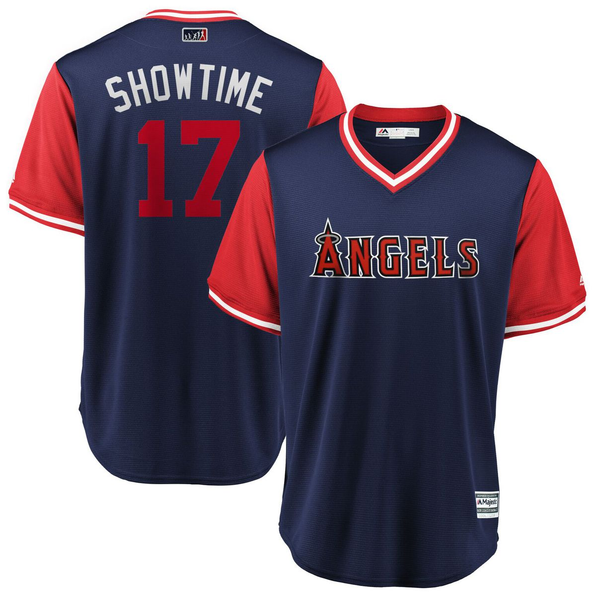 "3ebc93e7c Shohei Ohtani ""Showtime"" Majestic Players Weekend Cool Base Jersey for   119.99 Fanatics"