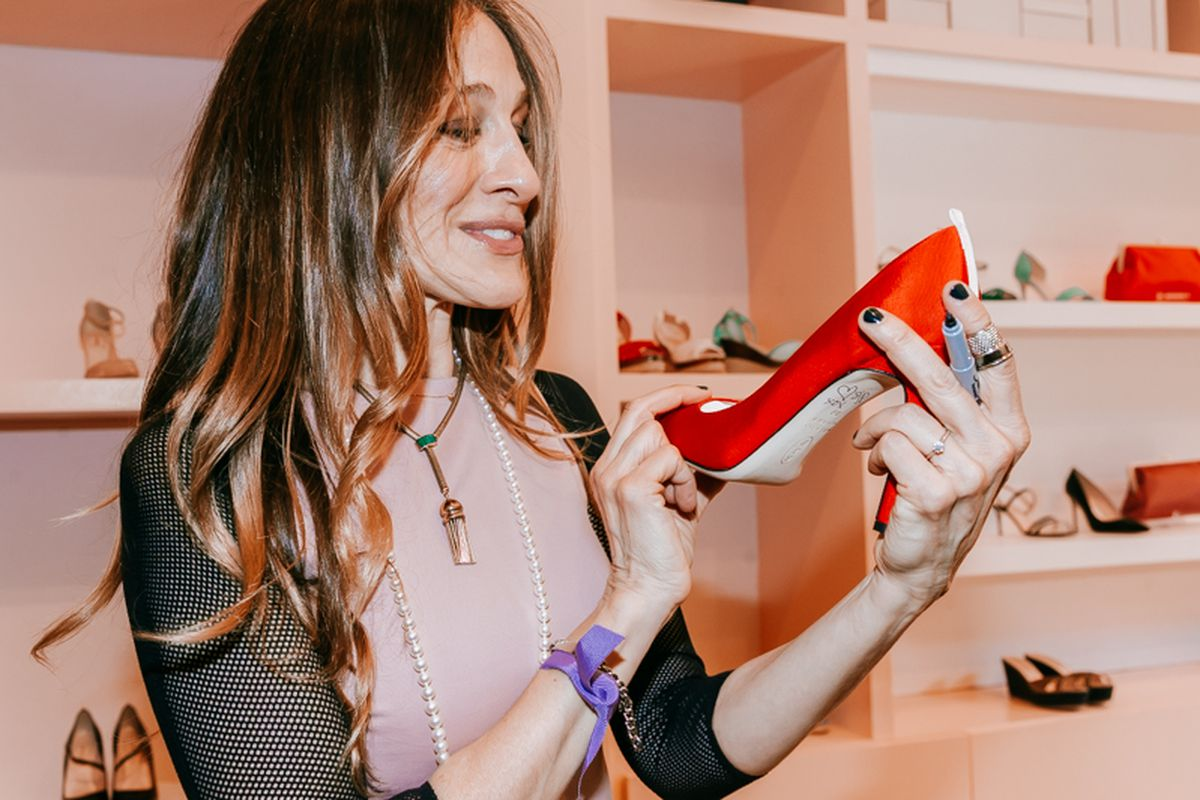 SJP at her New York City pop-up in February 2014