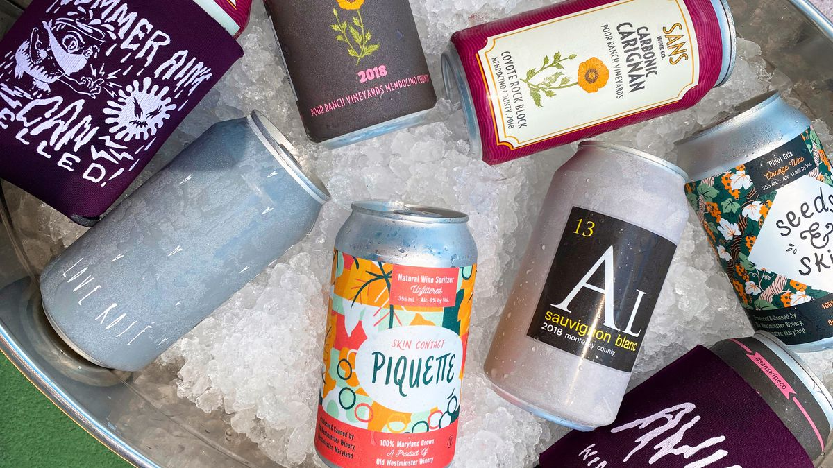 Canned wines at Aviary
