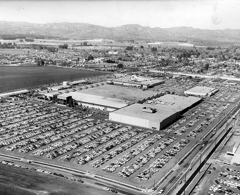 Aerial view of Rocketdyne plant