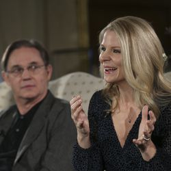 Kelli O'Hara — acclaimed singer and actress — and renowned actor Richard Thomas talk about the 2019 Christmas with The Tabernacle Choir concert in Salt Lake City on Thursday, Dec. 12, 2019. The Tabernacle Choir at Temple Square, Orchestra at Temple Square and Bells on Temple Square will perform their annual Christmas concerts in the Conference Center on Temple Square in Salt Lake City on Thursday, Friday and Saturday, Dec. 12–14, 2019, at 8:00 p.m.
