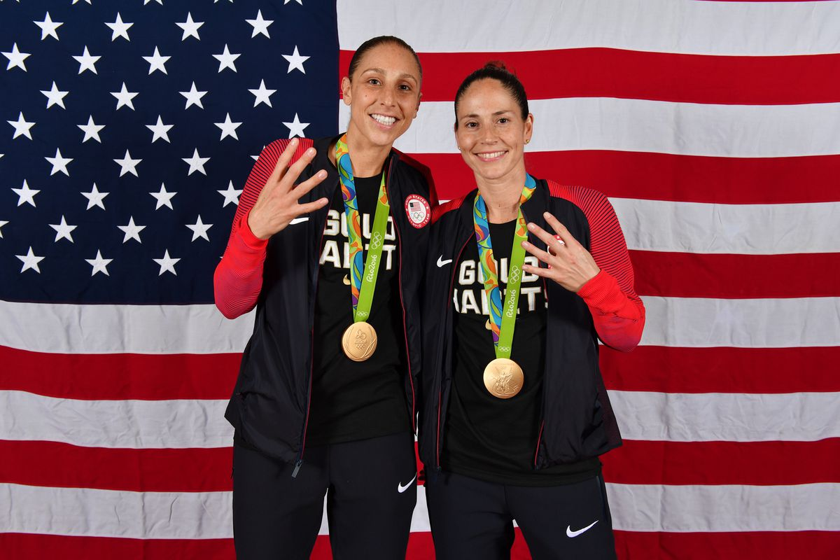 Women's USAB Team Gold Medal Portraits