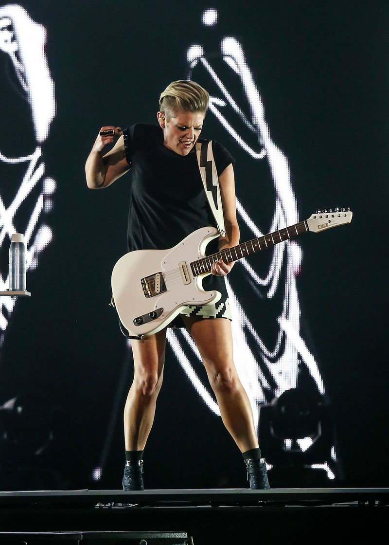 Natalie Maines of the band formerly known as the Dixie Chicks performs at Perth Arena in 2017