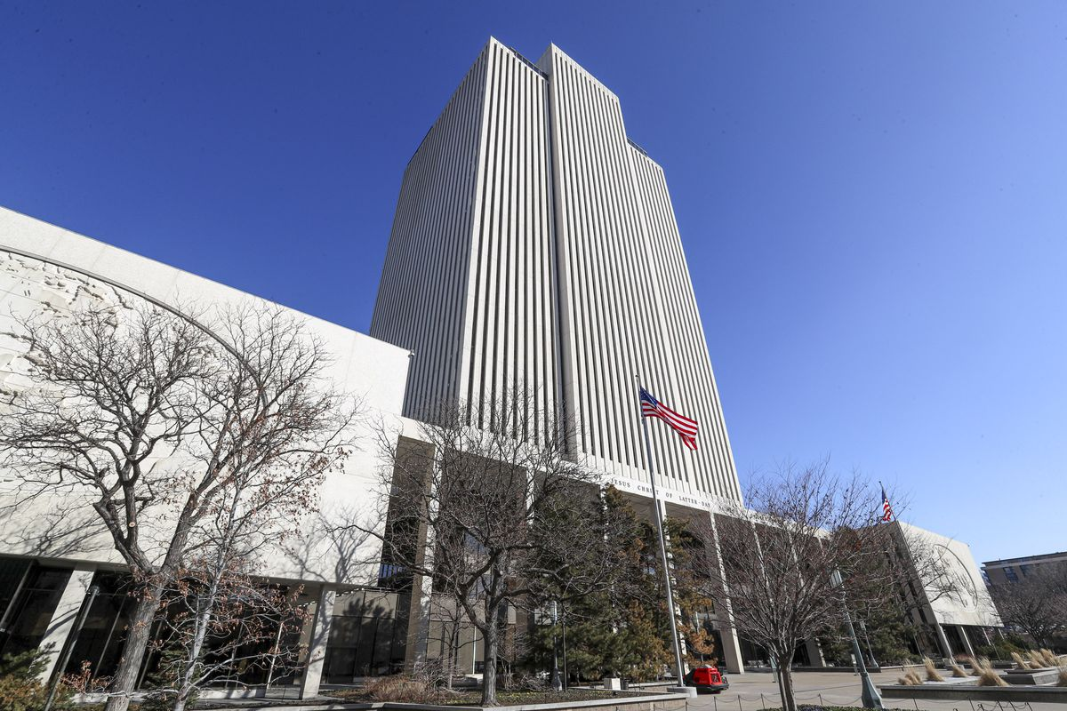 The Church Office Building of The Church of Jesus Christ of Latter-day Saints is pictured in Salt Lake City on Wednesday, Feb. 19, 2020.