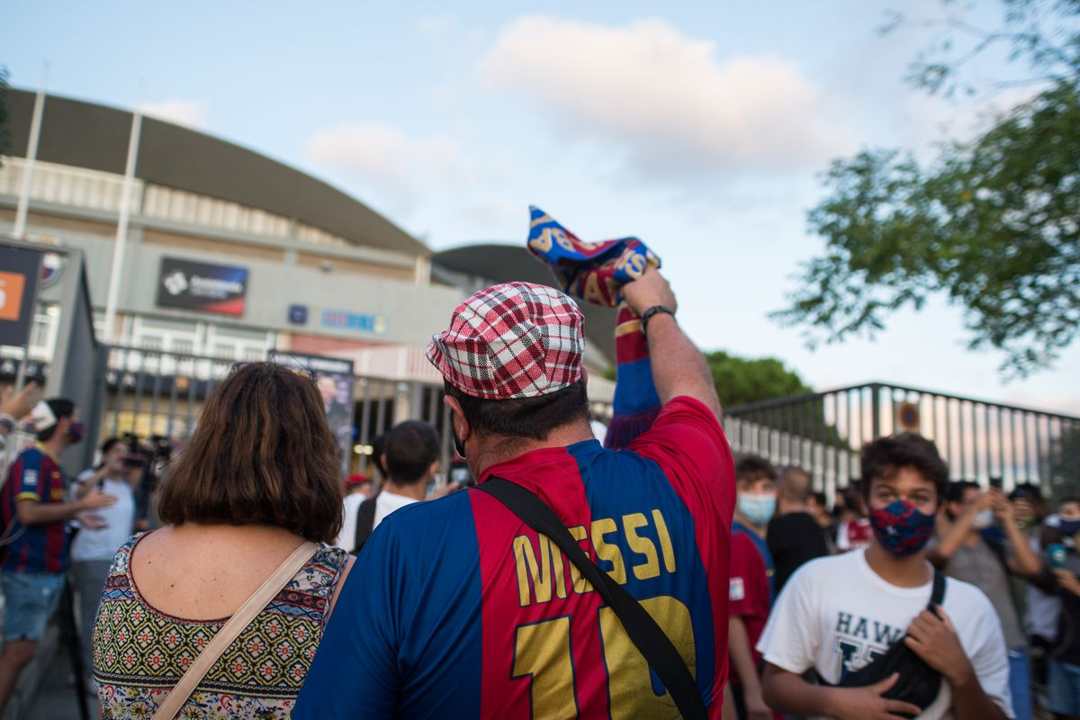 Protester wearing a Messi t-shirt during the demonstration.