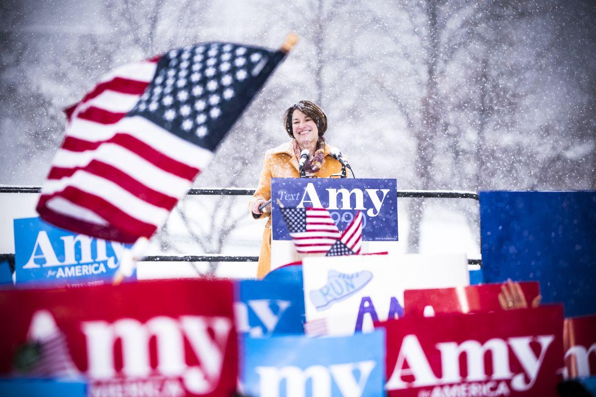Sen. Amy Klobuchar (D-MN) announces her 2020 presidential bid in Minneapolis, Minnesota, on February 10, 2019.