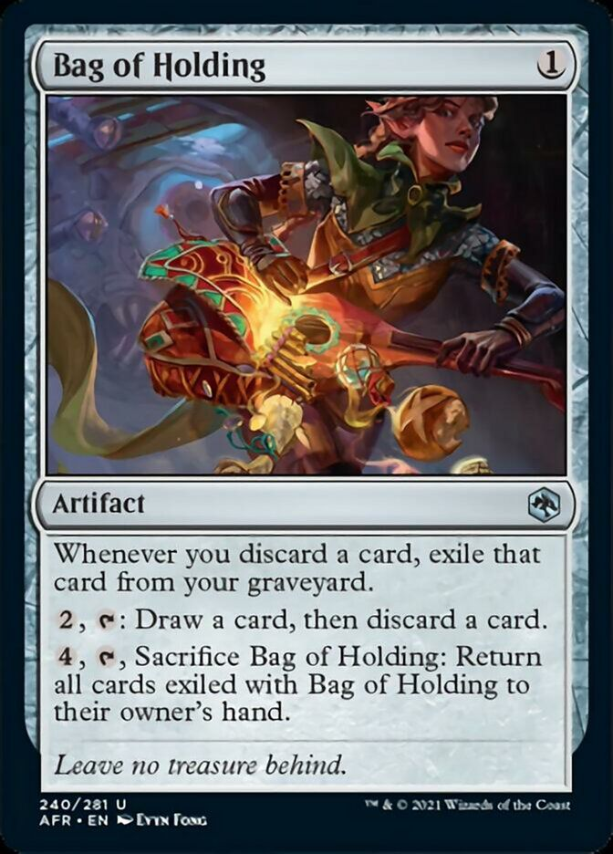 The Bag of Holding, an artifact for Magic.