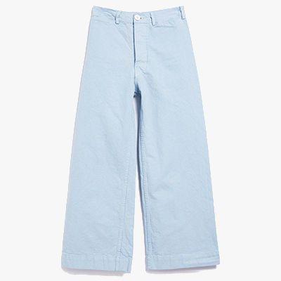 baby blue wide leg denim pant