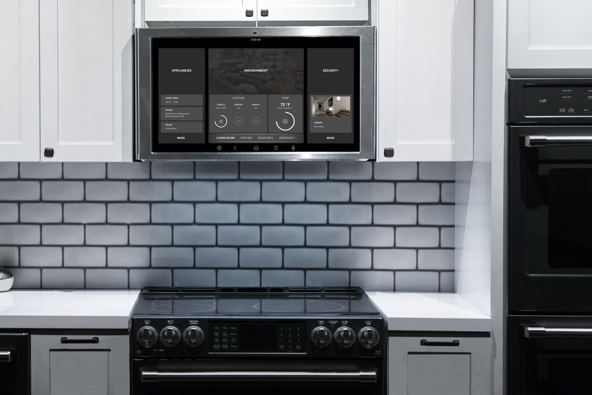 Ge s latest kitchen appliance is a 27 inch tablet the verge - Ge kitchen appliances ...