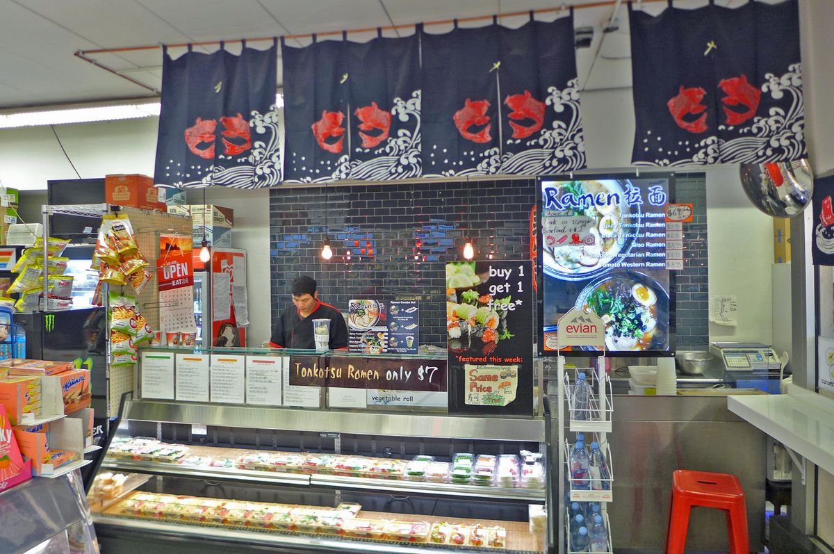 Sushi and ramen are Grab & Go's specialties.