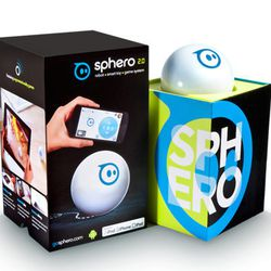 """Playing ball just isn't the same anymore. For your older kids, <b>Sphero 2.0</b> is a new improved version and just what they need to stop saying """"Mom, I'm bored!"""" This app-controlled ball can move and change colors with a tilt or touch of the fingers on"""