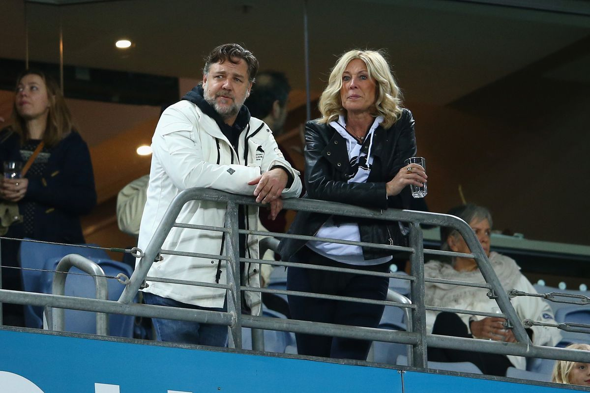 Russell Crowe (left) was thought to perhaps be buying Leeds United back in February,