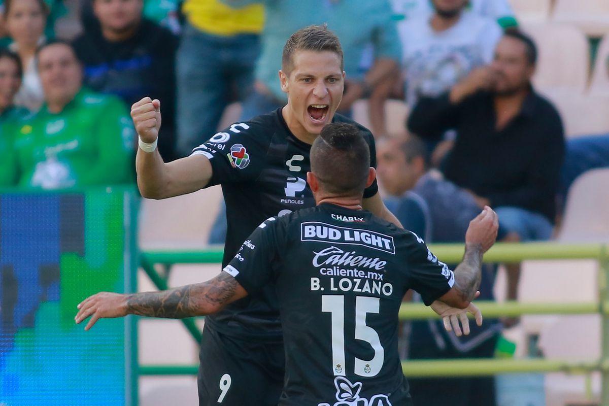 Julio Furch and Brian Lozano have scored 14 of Santos Laguna's 23 goals so far this season.