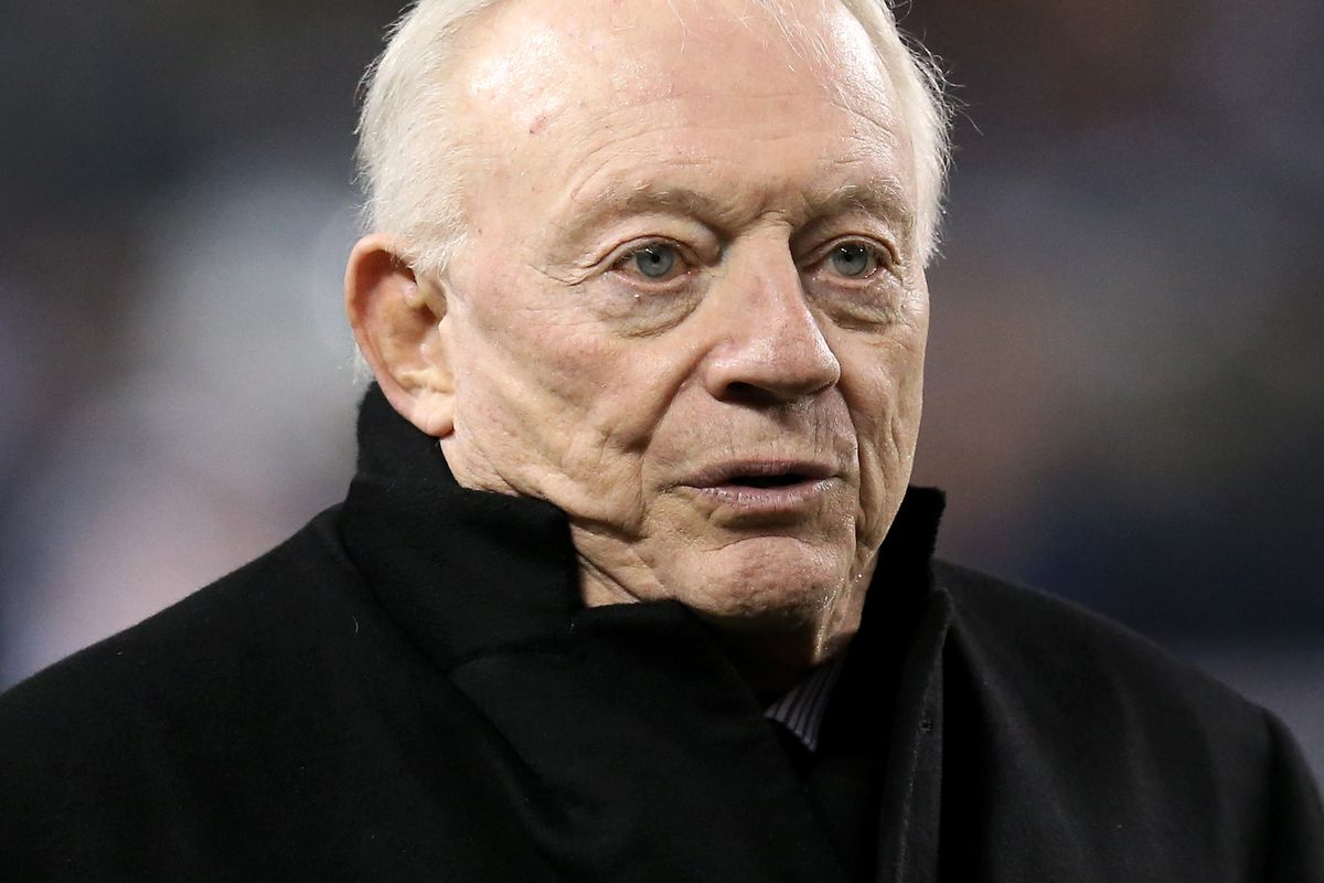 Dallas Cowboys owner Jerry Jones looks on before the game against the Chicago Bears at Soldier Field on December 05, 2019 in Chicago, Illinois.
