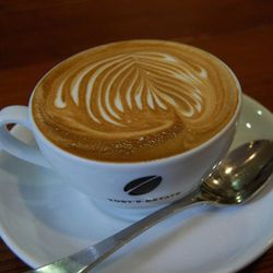 "<b>Flat White</b>: Australian carryover, basically a small latte. (<a href=""http://www.flickr.com/photos/su-lin/2058618324/"">Photo</a>)"