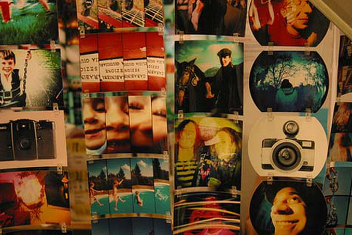 """Inside the Lomography store via <a href=""""http://www.flickr.com/photos/rachel_photo/4070612055/in/pool-rackedny"""">Rachel.Photo</a>/Racked Flickr Pool"""