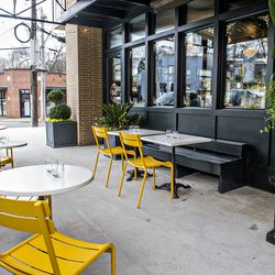 The outdoor patio at Bread & Butterfly.
