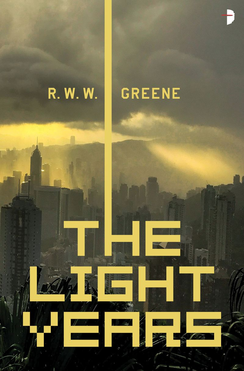 the light bursting through clouds over a city in The Light Years by R.W.W. Greene cover