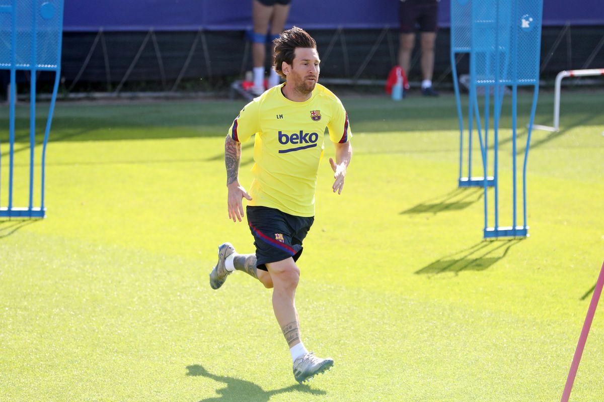 Barcelona Players Return To Training Following Coronavirus Lockdown
