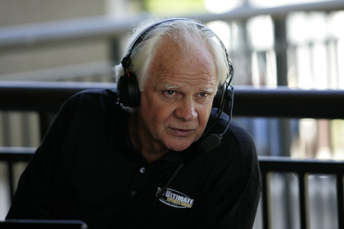 Ken Stabler during a radio broadcast during the first round of the Regions Charity Classic at the Robert Trent Jones Golf Trail at Ross Bridge in Hoover, Alabama, on May 18, 2007.