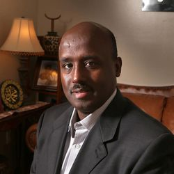 Aden Batar, a Muslim refugee in Utah became head of the refugee program for Catholic Community Services, Monday, Nov. 4, 2013, in West Valley City.