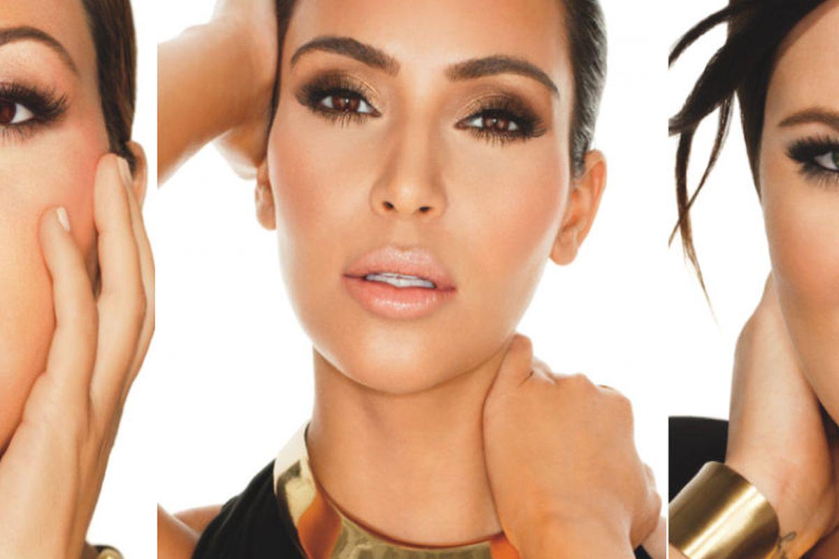 "Image via <a href=""http://kimkardashian.celebuzz.com/2012/09/25/khroma-beauty-promo-shots/"">KimKardashian.celebuzz.com</a>"