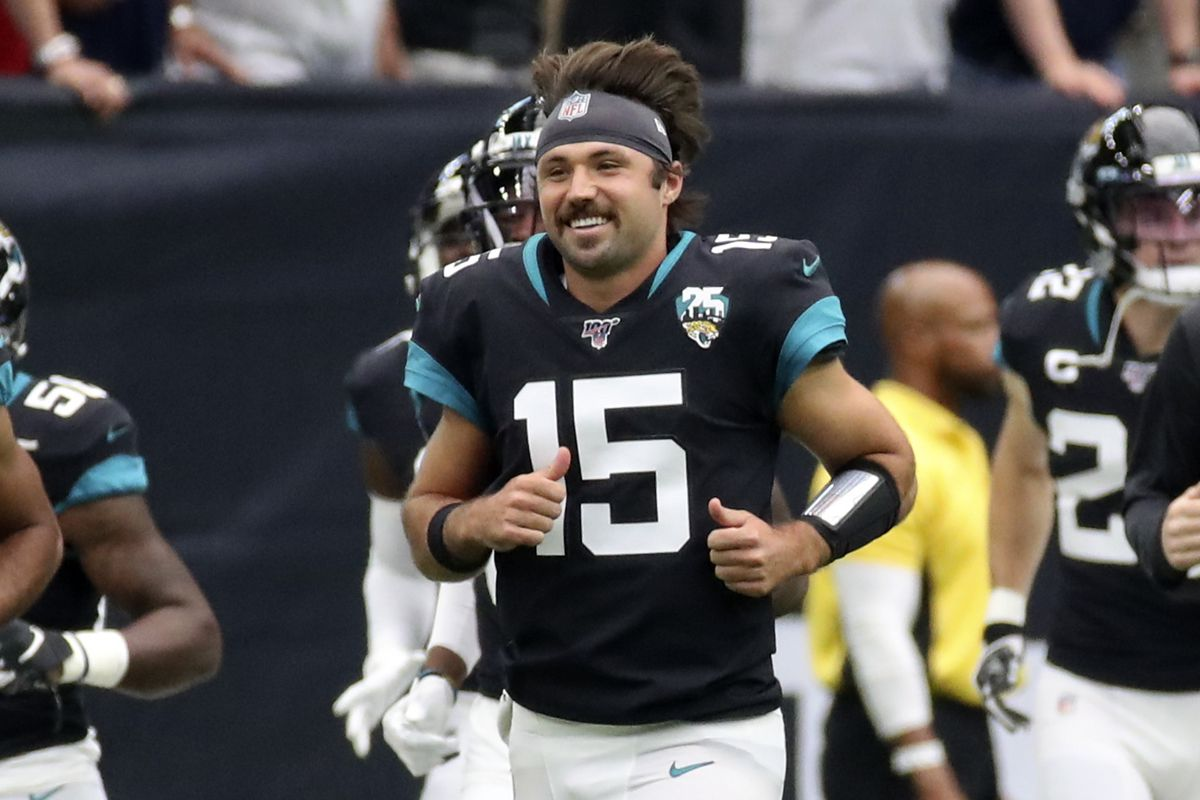 Jacksonville Jaguars quarterback Gardner Minshew before the game against the Houston Texans at NRG Stadium.
