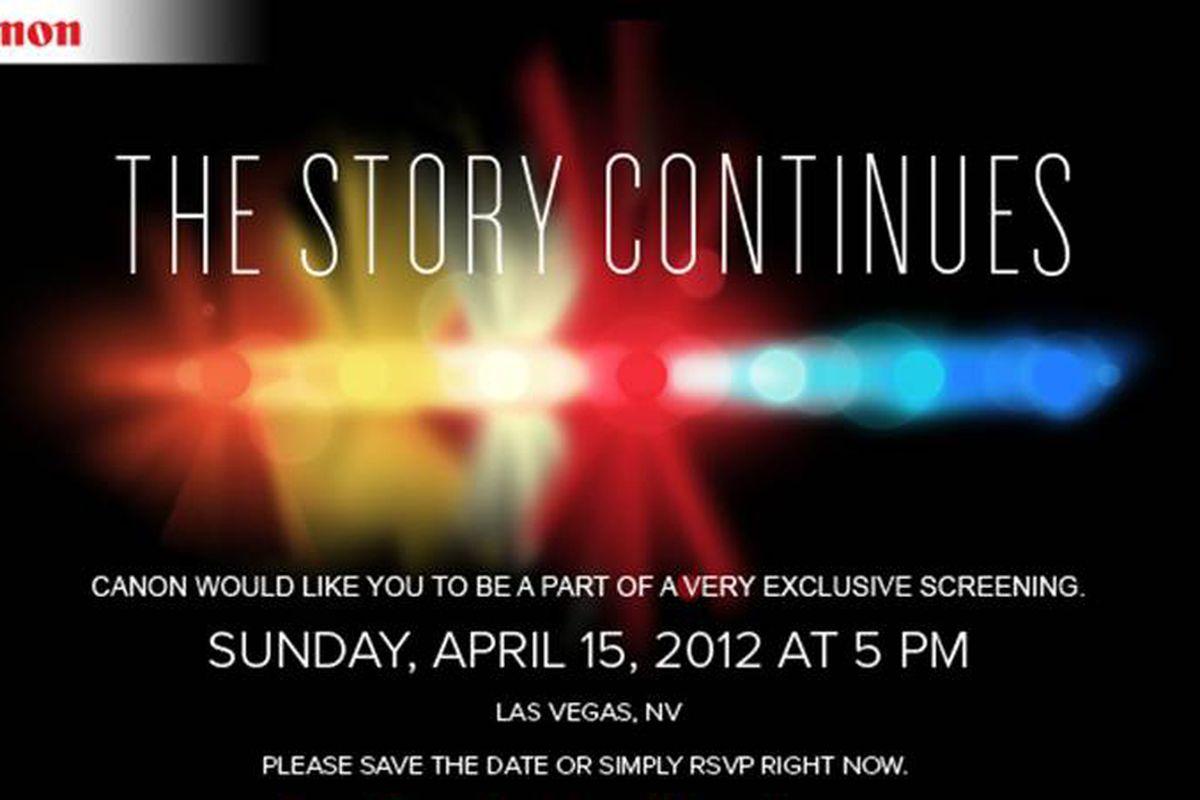 Canon event invitation las vegas 2012