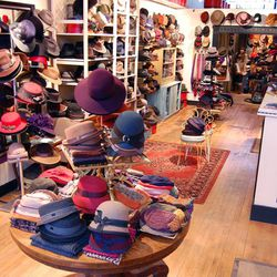 """With roughly 9000 hats, we think <a href=""""http://salmagundiboston.com/"""">Salmagundi</a> (765 Centre Street) can consider itself Boston's millinery expert. The JP boutique is owned by a husband and wife team that works with independent milliners for a wide"""