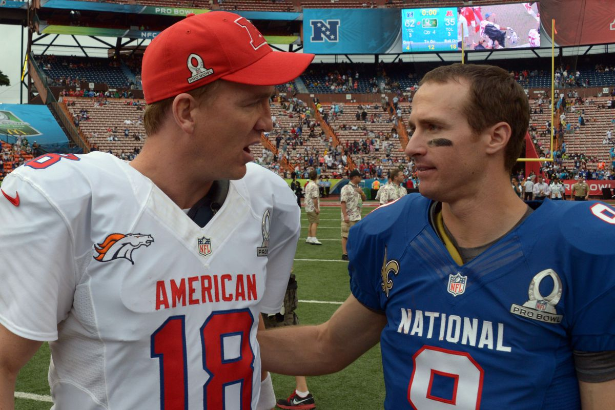 Hey Peyton, let's play paper, rock, scissors to see who gets 1st pick.