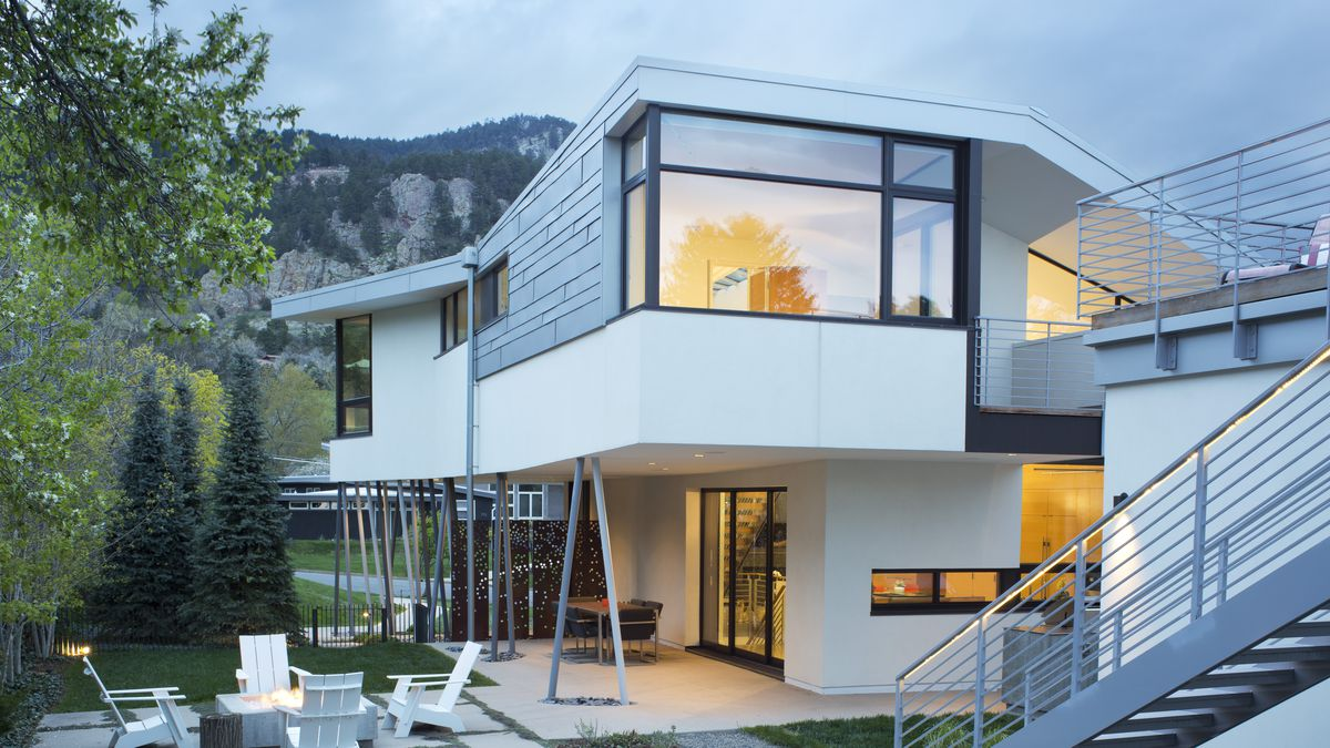A modern house in boulder built from scratch