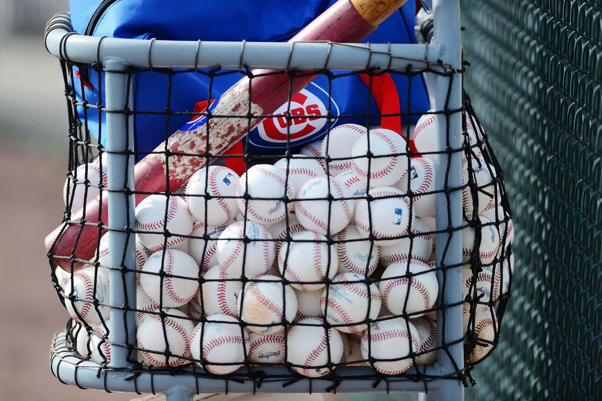 Kris Bryant and Jorge Soler vow to put all of these baseballs over the fence in rapid fashion.