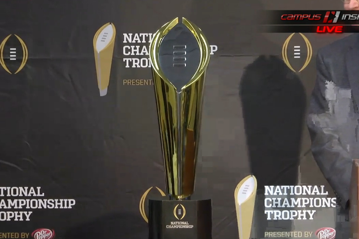 Here Is What The New College Football Playoff Trophy Looks Like