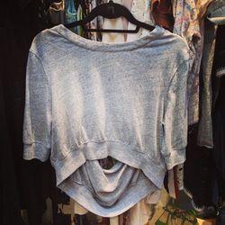 Alexander Wang backless sweater, $80.