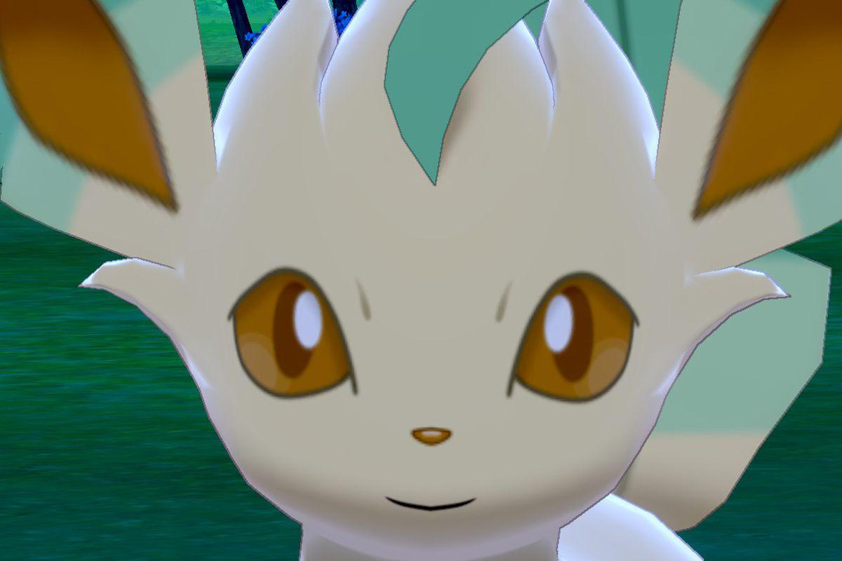 Close-up of Pokemon Leafeon