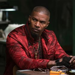 """Bats (Jamie Foxx) says he can't trust Baby in """"Baby Driver."""""""