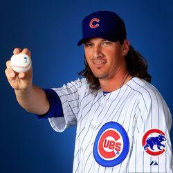 "Jeff Samardzija says, ""Here. Have a baseball."""