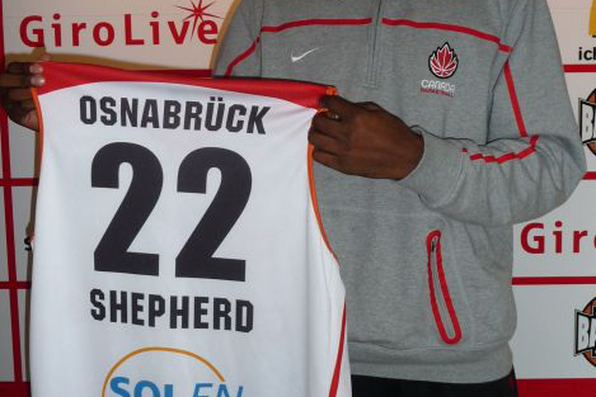 Jevohn Shepherd is our latest Canadian baller giving us a taste of the overseas life in From Long Distance. (Osnabruck Girolive Basketball Club)