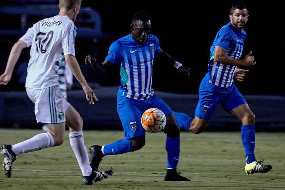 Trevin Caesar, OC Blues, credit USL