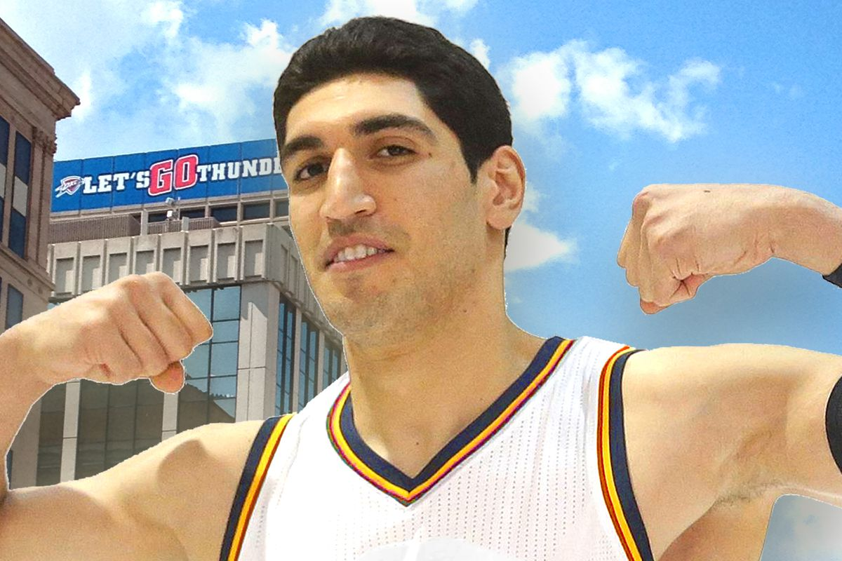 Did you know that Enes Kanter is mightier than 100% of OKC's skyscrapers?