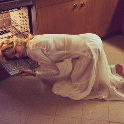 Sleep on the oven.