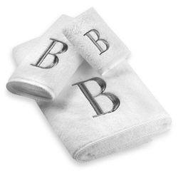 "<a href=""http://www.bedbathandbeyond.com/product.asp?MC=1&SKU=124769&RN=275&""> Avanti Premier Silver Block monogrammed towels</a>, from $7.99-$19.99 bedbathandbeyond.com"