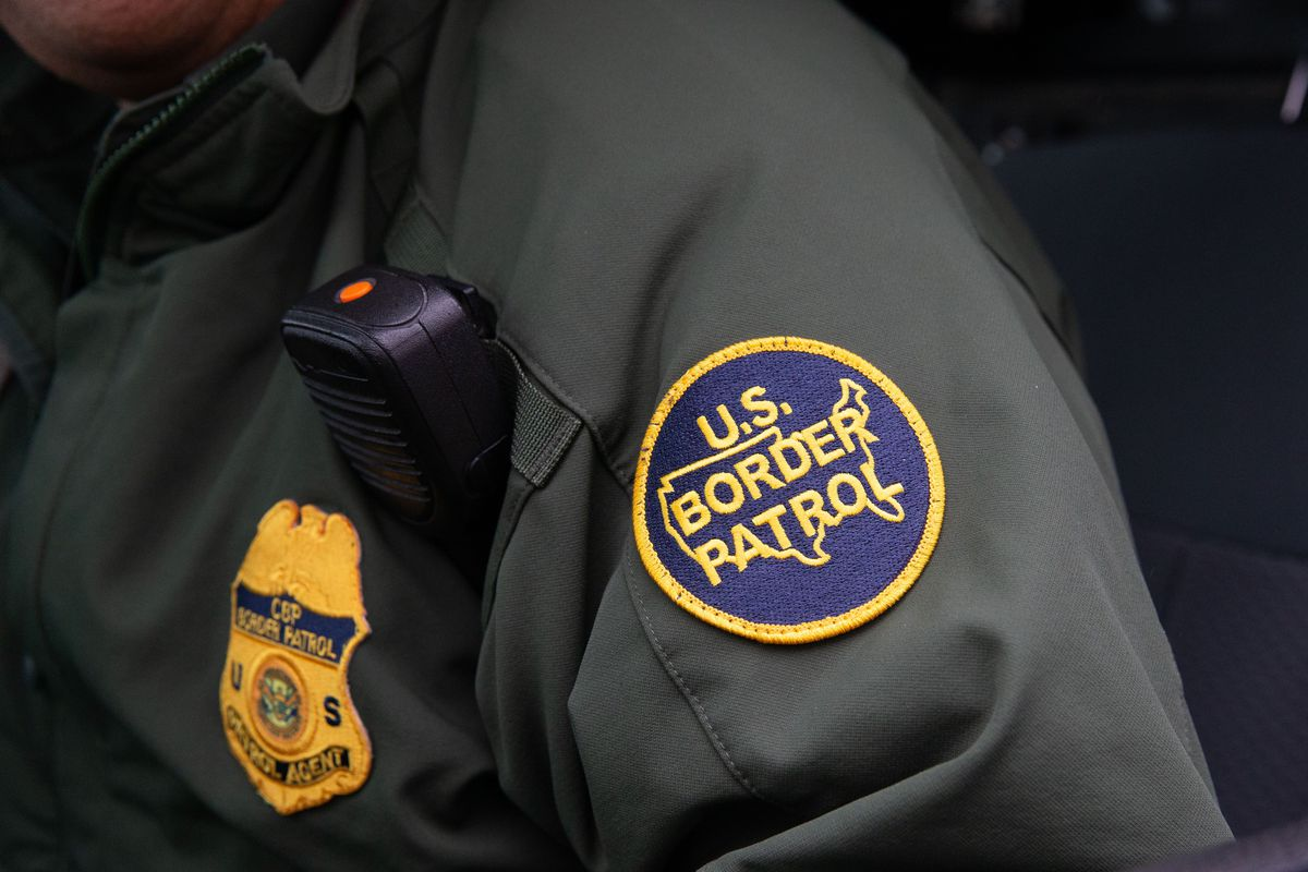 A Border Patrol agent in uniform, on January 15, 2019.